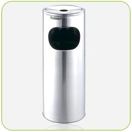 不銹鋼子彈型垃圾桶<點圖放大觀賞詳細內容>